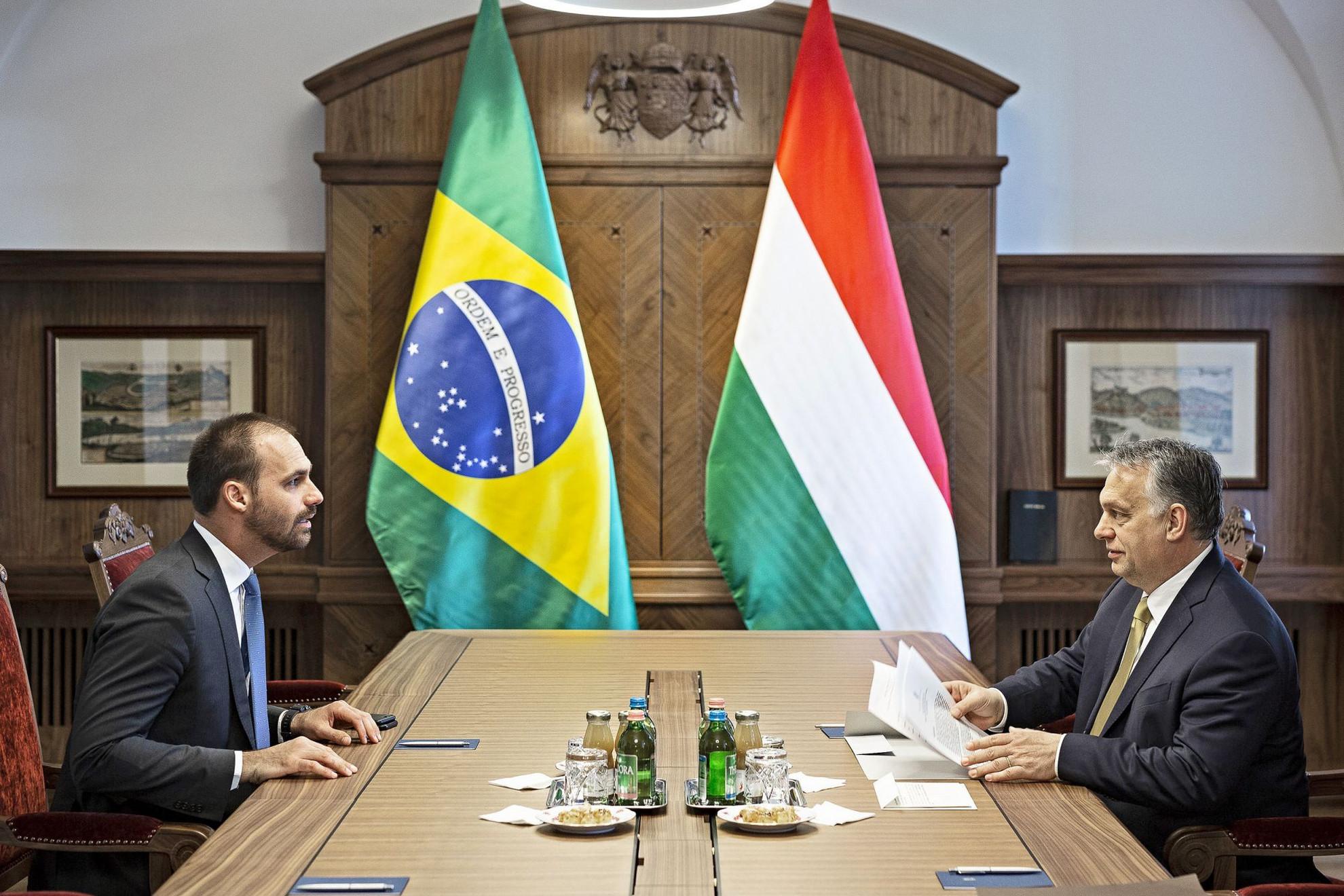 Orbán Viktor és Eduardo Bolsonaro