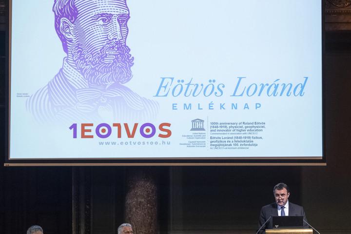 Eötvös Loránd-emléknap a Magyar Tudományos Akadémián