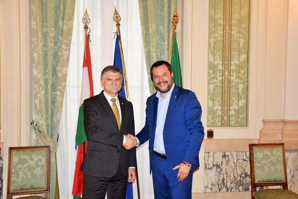 Kövér: Közös az álláspontunk Olaszországgal Európa jövőjéről