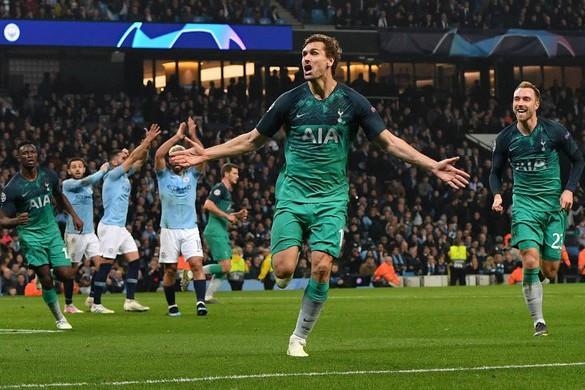 Óriási dráma végén jutott tovább a Tottenham a BL-ben