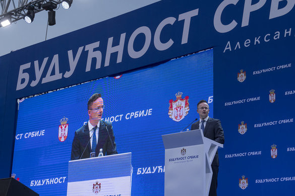Szijjártó: Szerbia azért erősödött meg, mert vezetői figyeltek a nemzeti érdekekre