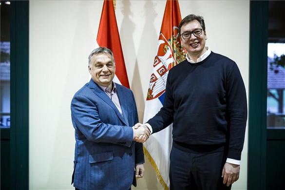 Orbán Viktor Szerbiába utazott