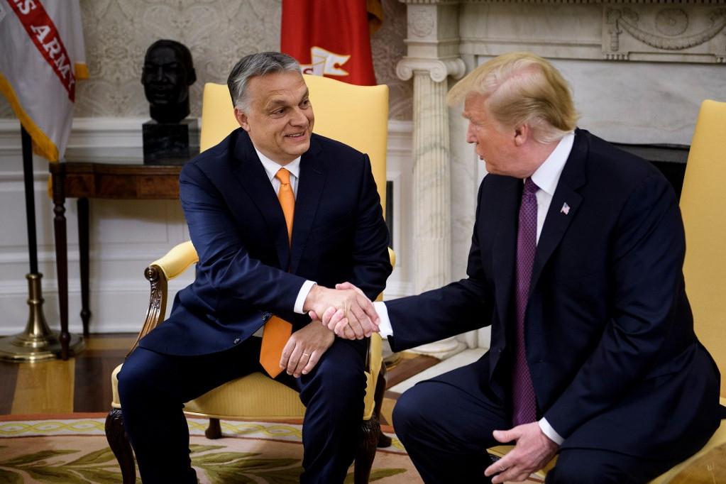 Orbán Viktor és Donald Trump találkozója a Fehér Házban