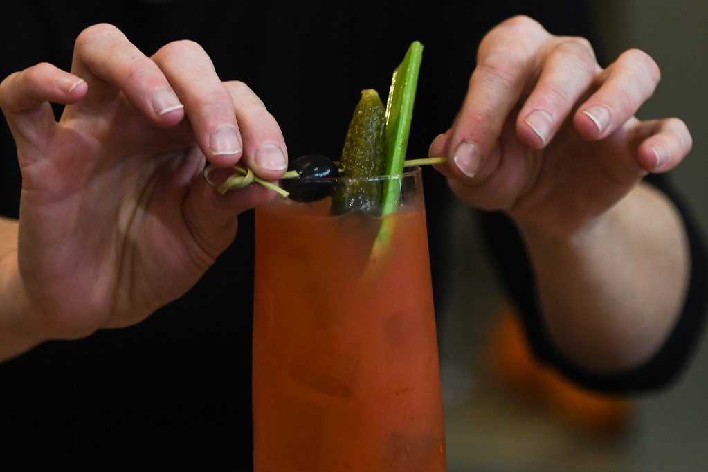 A The Virgin Bar Bloody Mary-jében sok a paradicsomlé, de egy csepp alkohol sem kerül bele