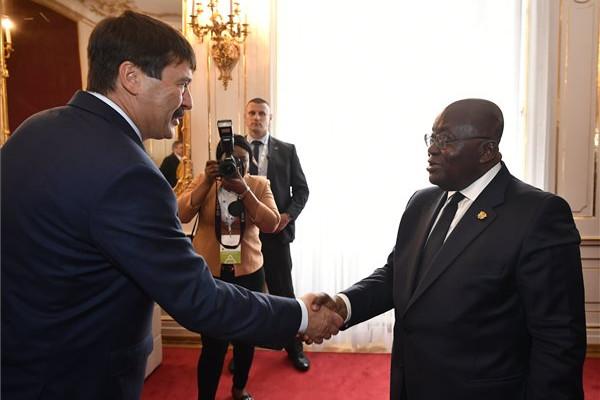 Áder János köztársasági elnök és Nana Akufo-Addo ghánai elnök