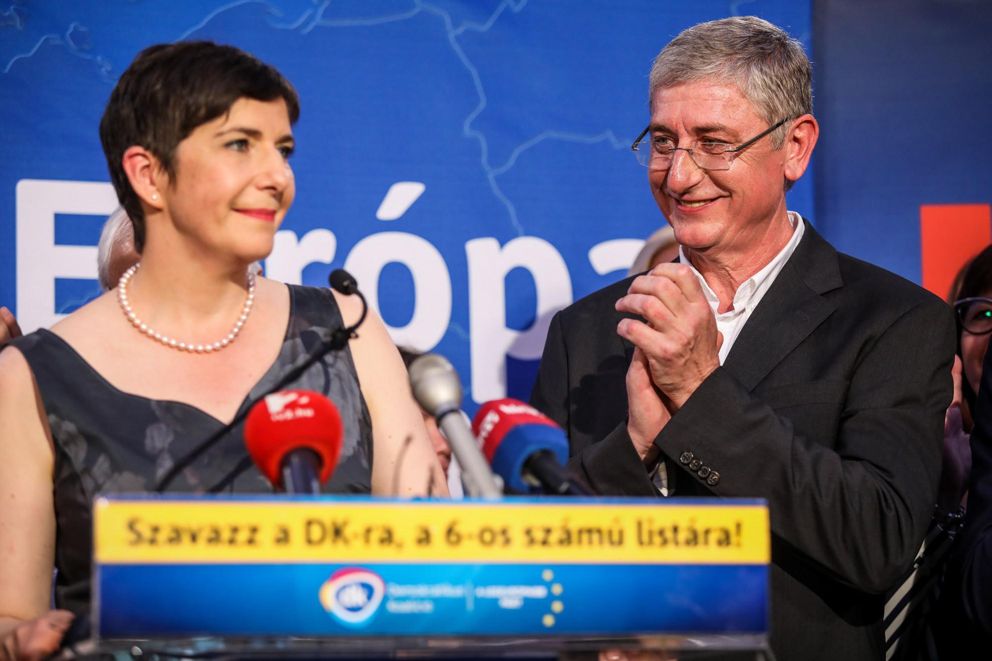 Végrehajtott terv. Dobrev Klára, Gyurcsány Ferenc felesége kijutott az Európai Parlamentbe, pártja, a Demokratikus Koalíció pedig meglepő módon négy mandátumot szerzett