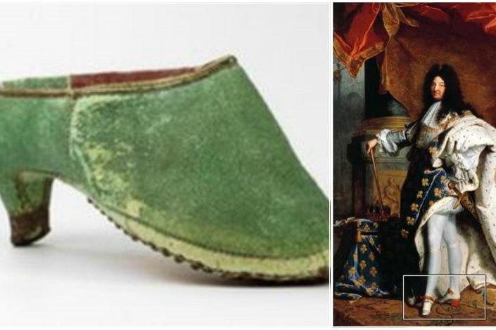 XIV. Lajos korában még a férfiak viselete volt a magas sarok