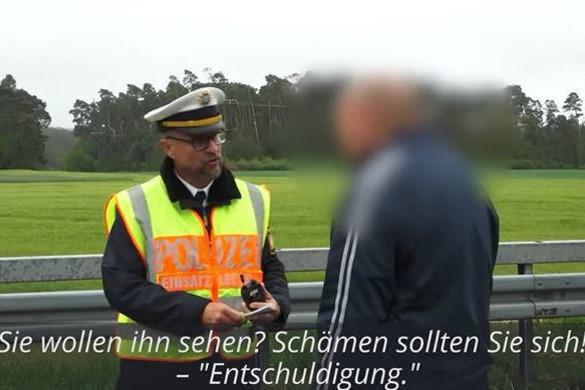 Keményen kiosztotta a balesetet fotózó magyar sofőrt a német rendőr