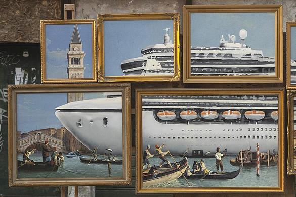 Velencében készített graffitit Banksy