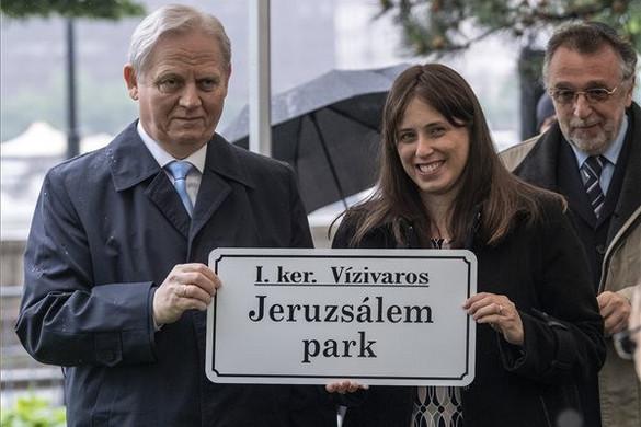 Jeruzsálemről neveztek el parkot Budapesten