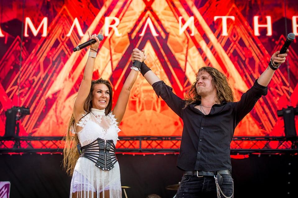 Elize Ryd és Nils Molin, az Amaranthe énekesei