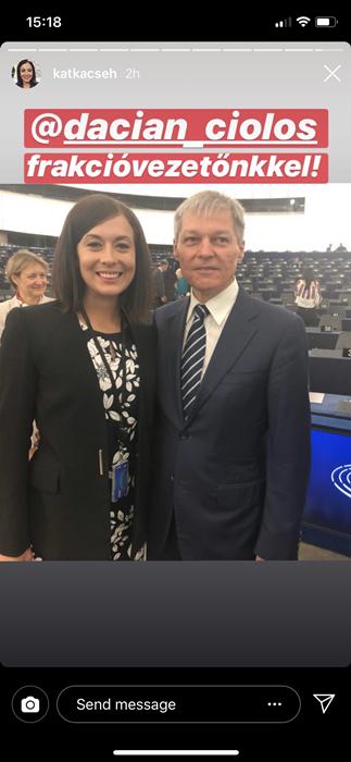 A momentumos Cseh Katalin magyarellenes román politikussal bájolgott