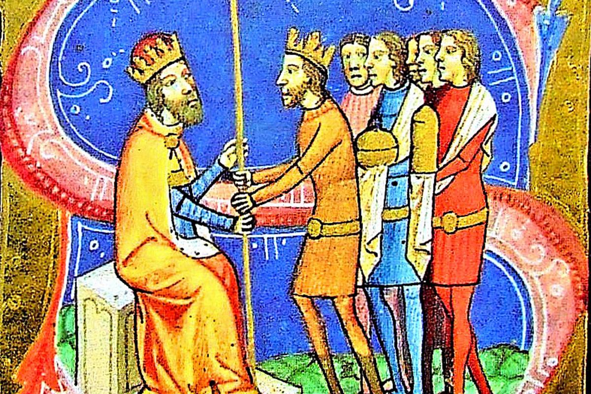 Péter király hűbérül adja a Magyar Királyságot III. Henrik német–római császárnak