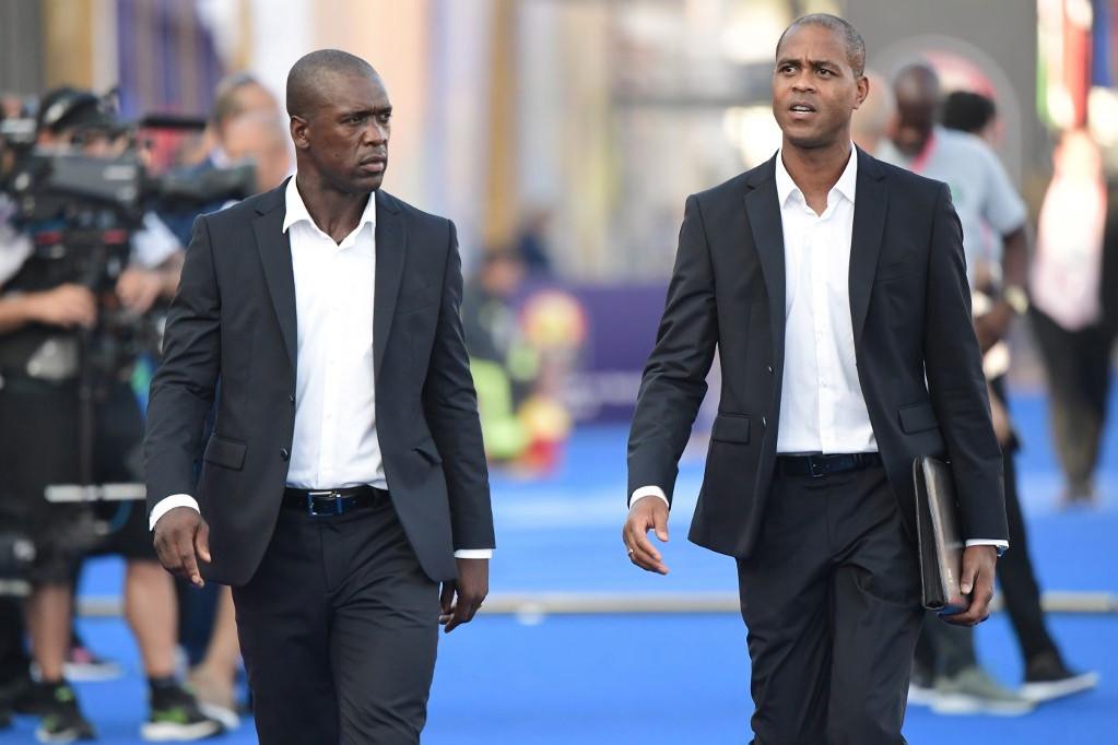Kluivert (jobbra) legutóbb Clarence Seedorf pályaedzőjeként dolgozott a kameruni válogatottnál
