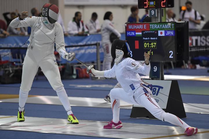 Olimpiai bajnokot legyőzve jutott a főtáblára a 16 éves magyar vívó