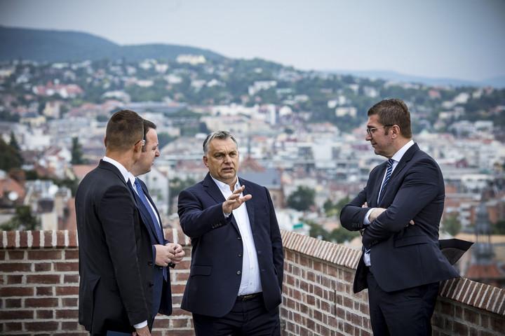 Orbán Viktor a Fidesz észak-macedón testvérpártjának vezetőivel tárgyalt