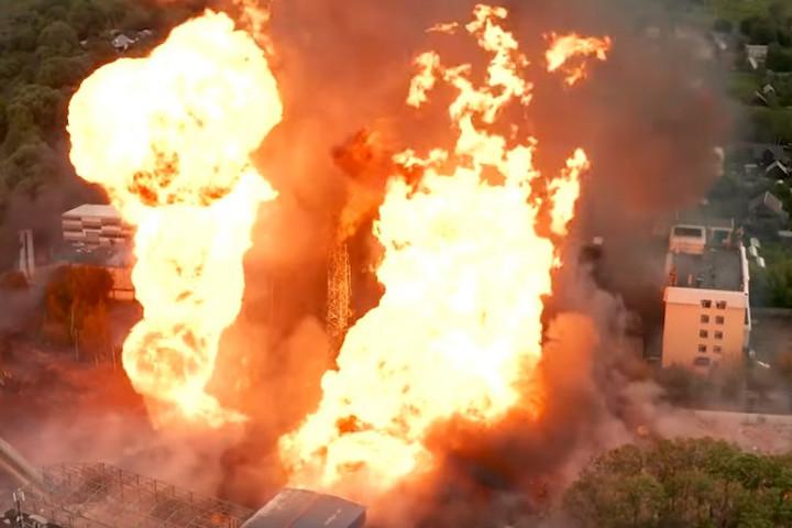 Hatalmas tűz ütött ki egy Moszkva melletti hőerőműben