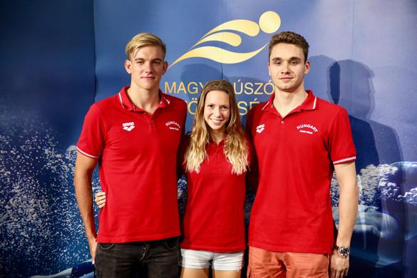 A Duna Arénában köszöntötték a világbajnokságról hazatérő úszókat