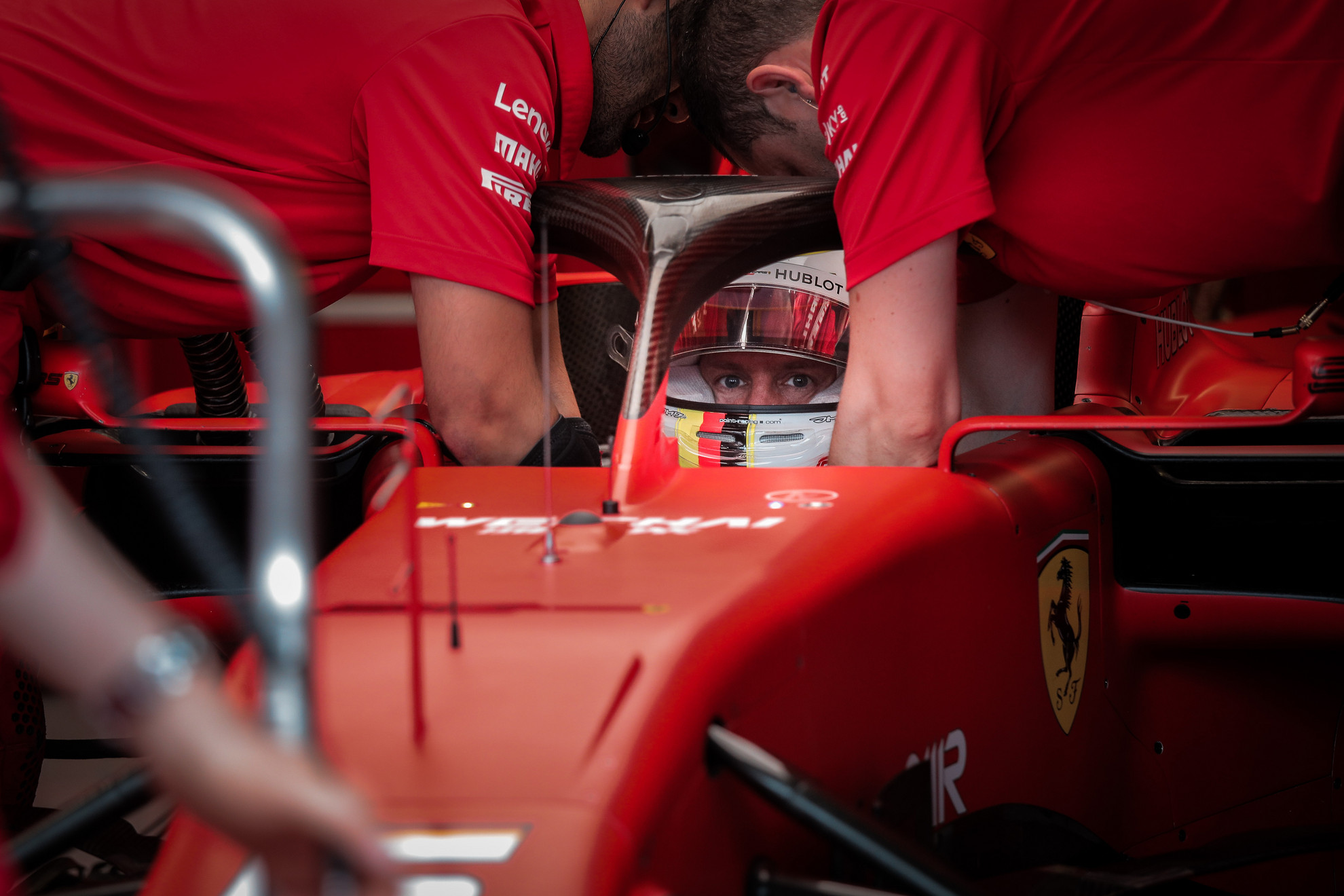 Sebastian Vettel az időmérőn