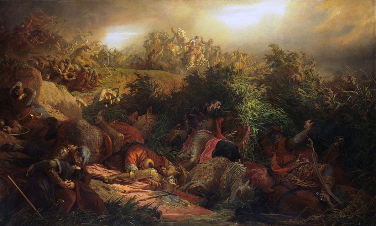 II. Lajos holttestének megtalálása Székely Bertalan festményén