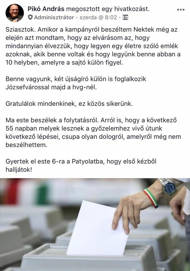 Pikó András Facebook-bejegyzésével lebuktatta a HVG-t