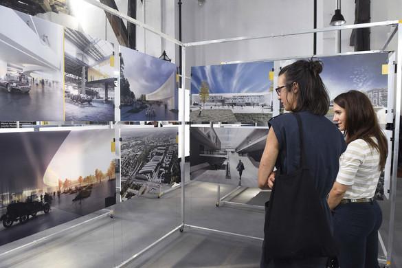 A Közlekedési Múzeum új épületéhez készült látványtervekből nyílt kiállítás Budapesten