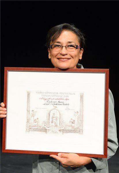 A legjobb női alakításért díjazott Ráckevei Anna