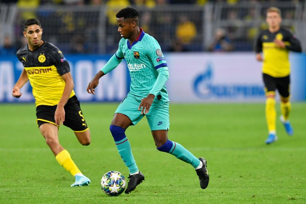 Ansu Fati a BL-ben is a Barca történetének legfiatalabb játékosa lett, de a Dortmund ellen nem igazán ment neki a játék