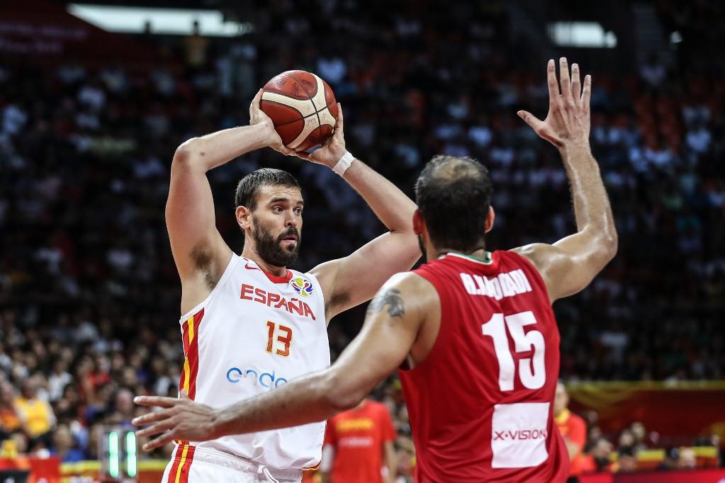 A spanyoloknak nem ment a játék, Marc Gasolnak (a labdával) sem ez volt élete meccse, de így is csapata legjobbja volt Irán ellen
