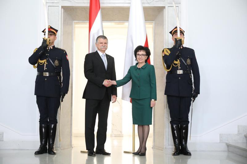 Kövér László és Elzbieta Witek