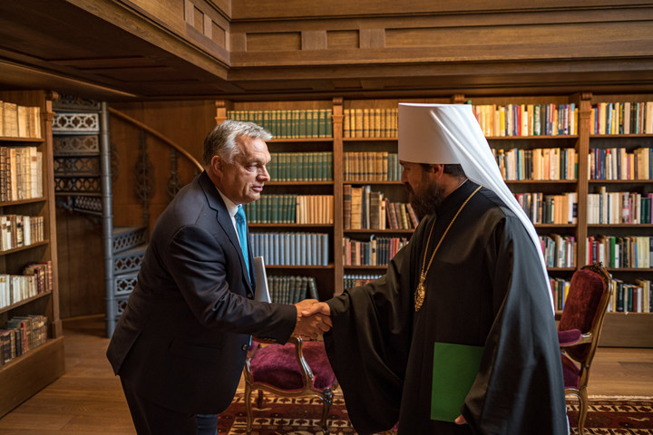 Az Orosz Ortodox Egyház külügyi vezetőjét fogadta Orbán Viktor