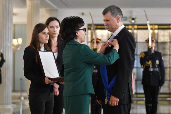 Magas lengyel állami kitüntetést kapott Kövér László