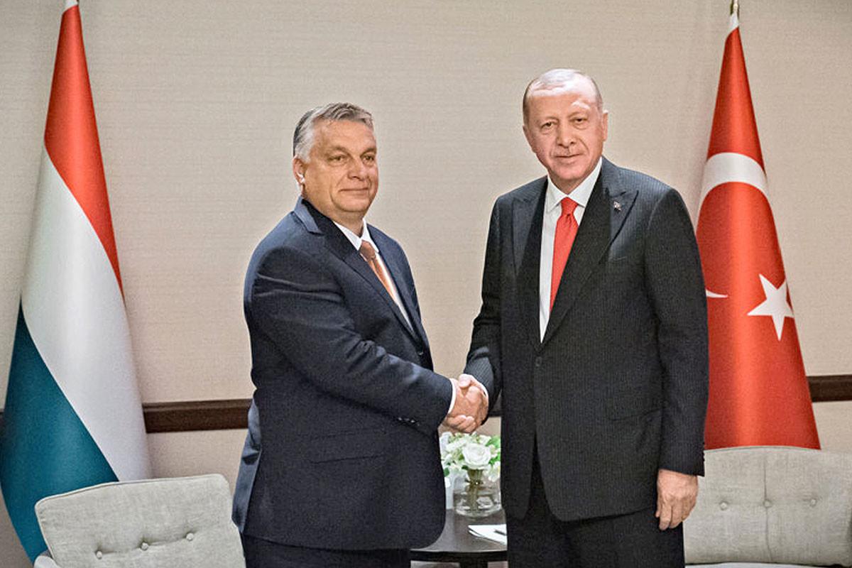 Orbán Viktor kormányfő és Recep Tayyip Erdogan török elnök találkozója Bakuban