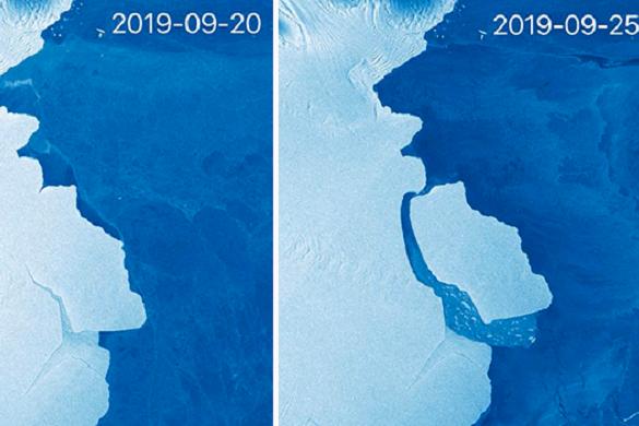 Gigantikus jéghegy szakadt le az Antarktiszról