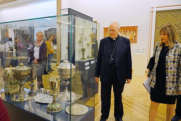 Az oltáriszentség tiszteletéről nyílt kiállítás a Pesti Vigadóban