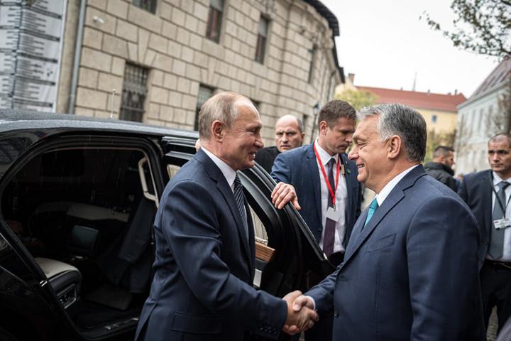 Megérkezett Budapestre Vlagyimir Putyin