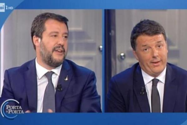 Salvini és Renzi televíziós párbajt folytatott