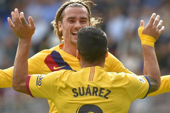 Griezmann, Suárez és Messi is gólt lőtt, simán nyert a Barcelona