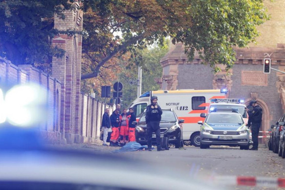 Lövöldözés volt egy németországi zsinagógánál, többen meghaltak