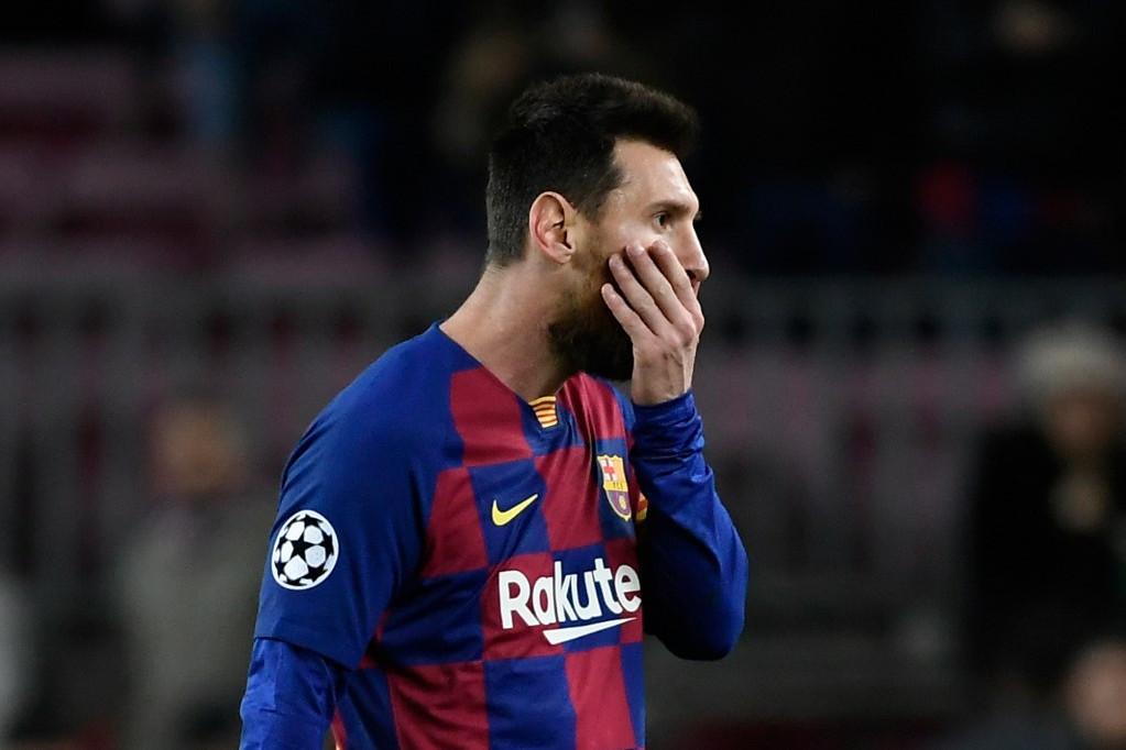 Lionel Messi reakciója a Bajnokok Ligája keddi, Slavia Praha elleni csoportmérkőzés végén
