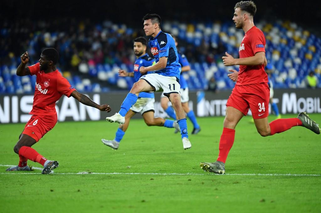 Hirving Lozano góljával tudott egyenlíteni a Napoli