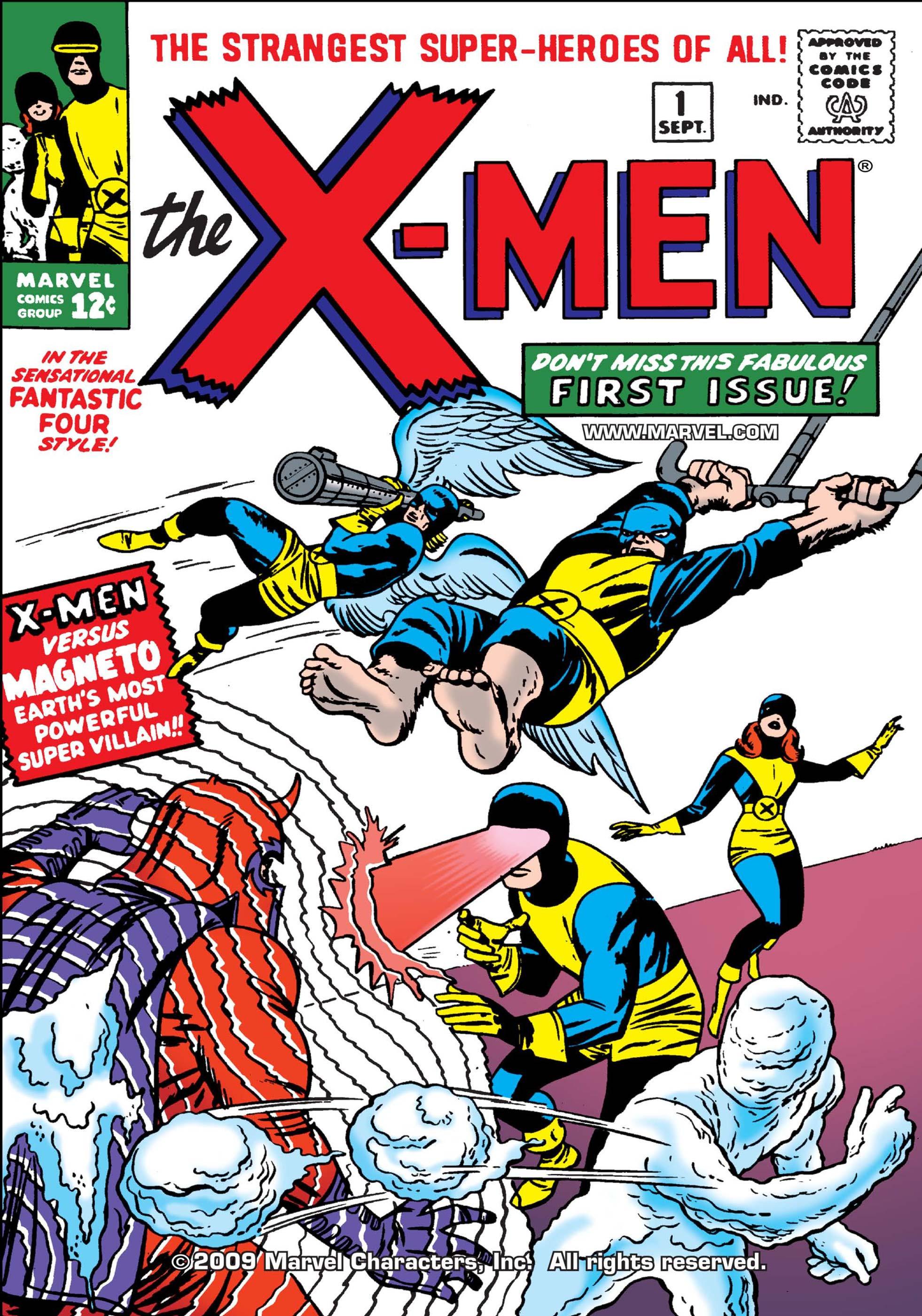 Az X-Men csapat már a képregénysorozat első részében is Magneto ellen küzdött