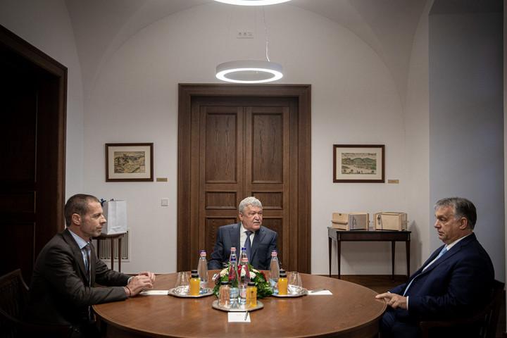 Orbán Viktor fogadta az UEFA elnökét