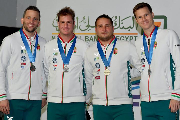 Ezüstérmet nyert a magyar kardcsapat a kairói világkupán
