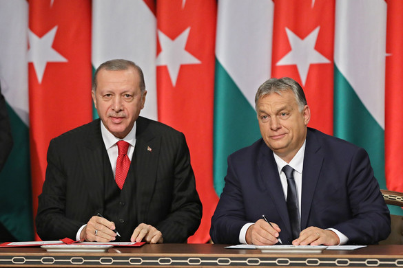 Turkish President Erdogan in Budapest