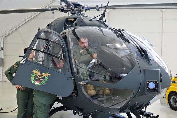 Elvégezte első repülését tegnap az MH 86. Szolnok Helikopter Bázison a Magyar Honvédség újonnan vásárolt Airbus H145M helikoptere