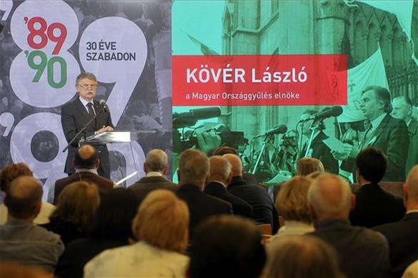 Kövér: Az állam legfőbb célja az ország szuverenitását és a magyar családokat erősíteni