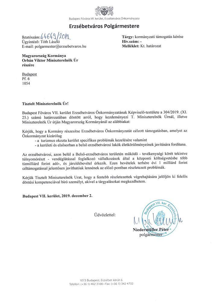 A DK-s polgármester Orbán Viktortól vár segítséget