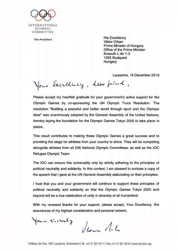 Az eredeti, Orbán Viktornak címzett levél