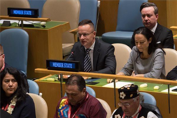 Szijjártó Péter a magyar kisebbségek védelméért szólalt fel az ENSZ-ben